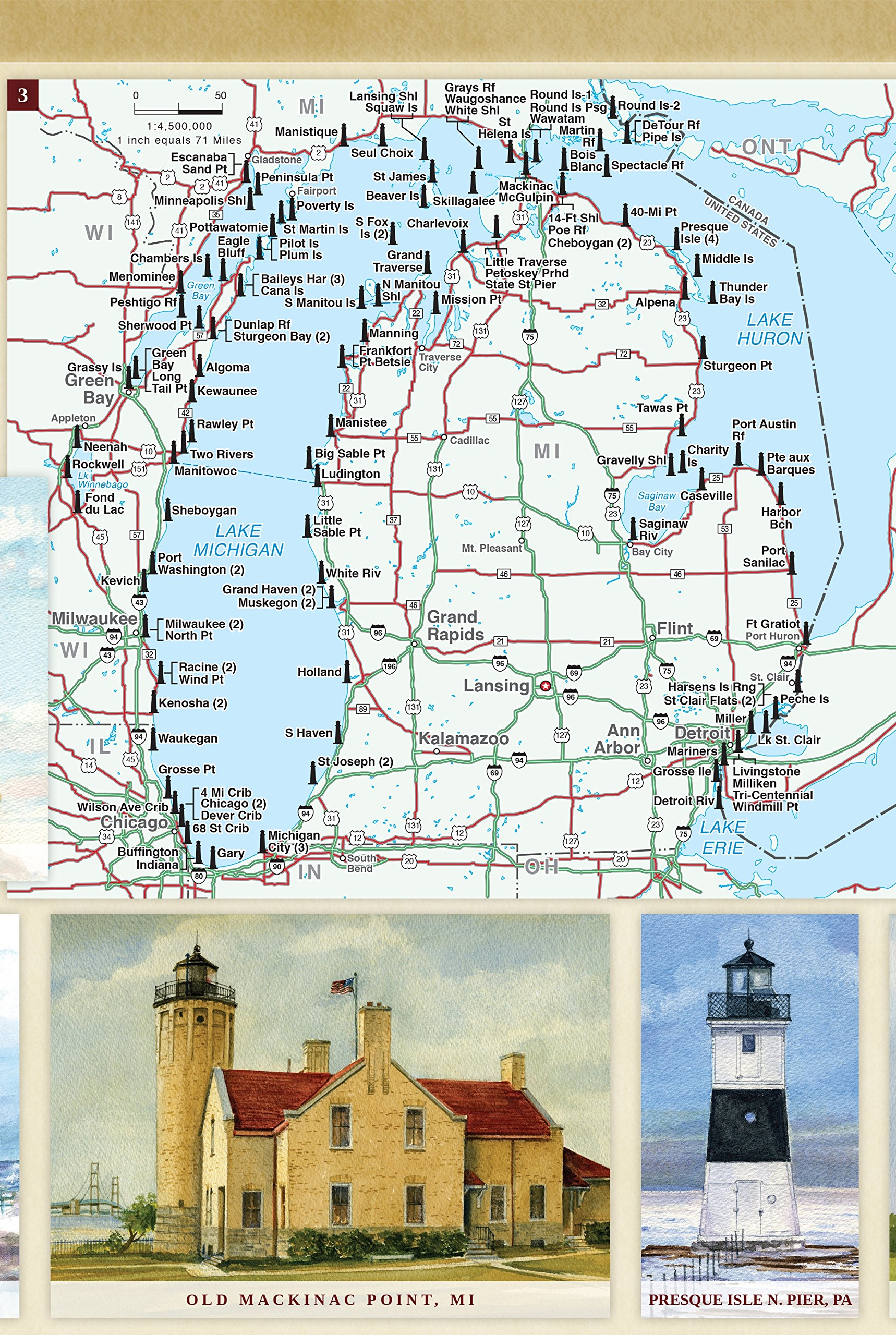 united states lighthouses ilrated map guide bella stander gerald c hill cover jim daviner diana hertz peter m mason ken matthew