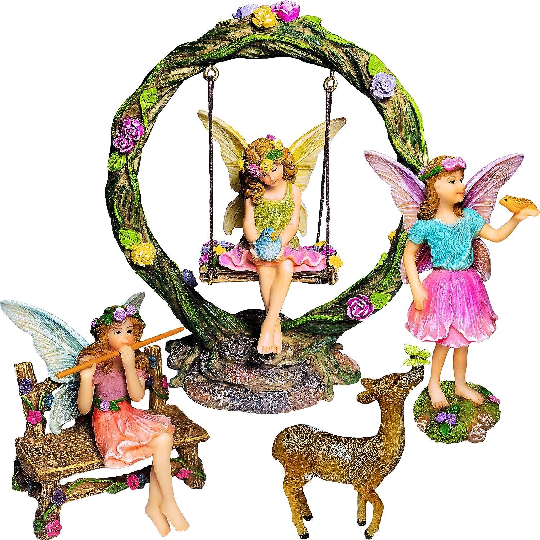 Miniature Figurine FAIRY GARDEN ~ HONEY Yellow Flower Fairy Girl Figurine ~ NEW