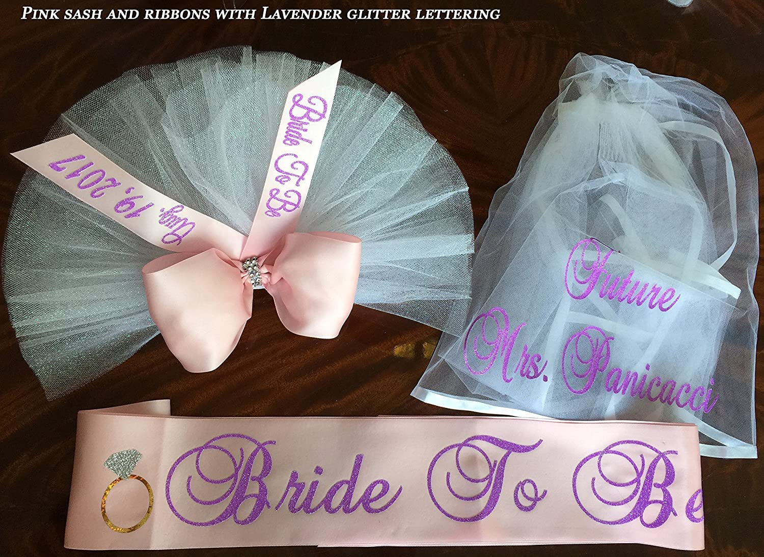 Bikini Veil, Booty Veil, Bachelorette Party Day and Night Set - PERSONALIZED Hair Veil, Sash and Stunning Booty Cover for only $75 (An $90.00 VALUE if purchased separately) by SashANation