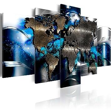 murando - Bilder 200x100 cm Vlies Leinwandbild 5 TLG Kunstdruck modern  Wandbilder XXL Wanddekoration Design Wand Bild - Weltkarte Abstrakt  kA-0017-bp