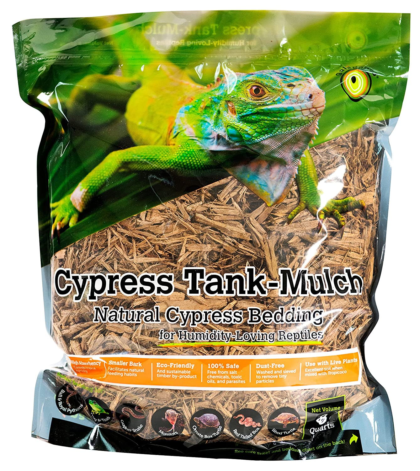 Galapagos (05054 Cypress Tank Mulch Forest Floor Bedding, 8-Quart, Natural 7 59834 05054 4