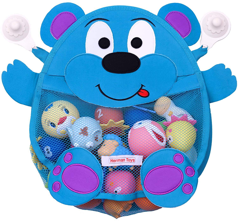 Amazon.com: Herman Bear Baby Bath Toy Organizer - Toddler Bathtub ...