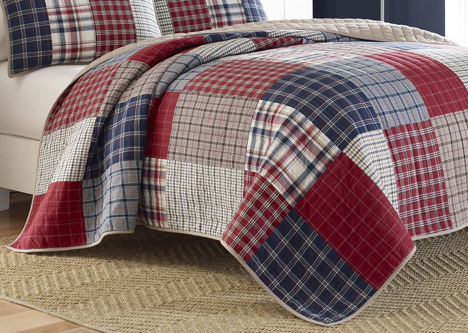 Nautica Ansell Pieced Cotton Quilt, Full/Queen, Multi