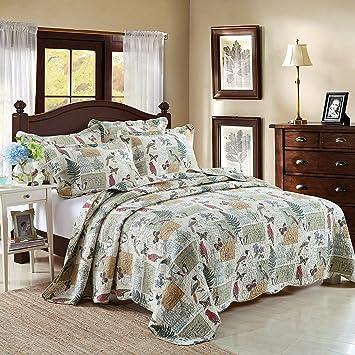 100 cotton 3 piece reversible quilt set bedspreads set coverlets queen