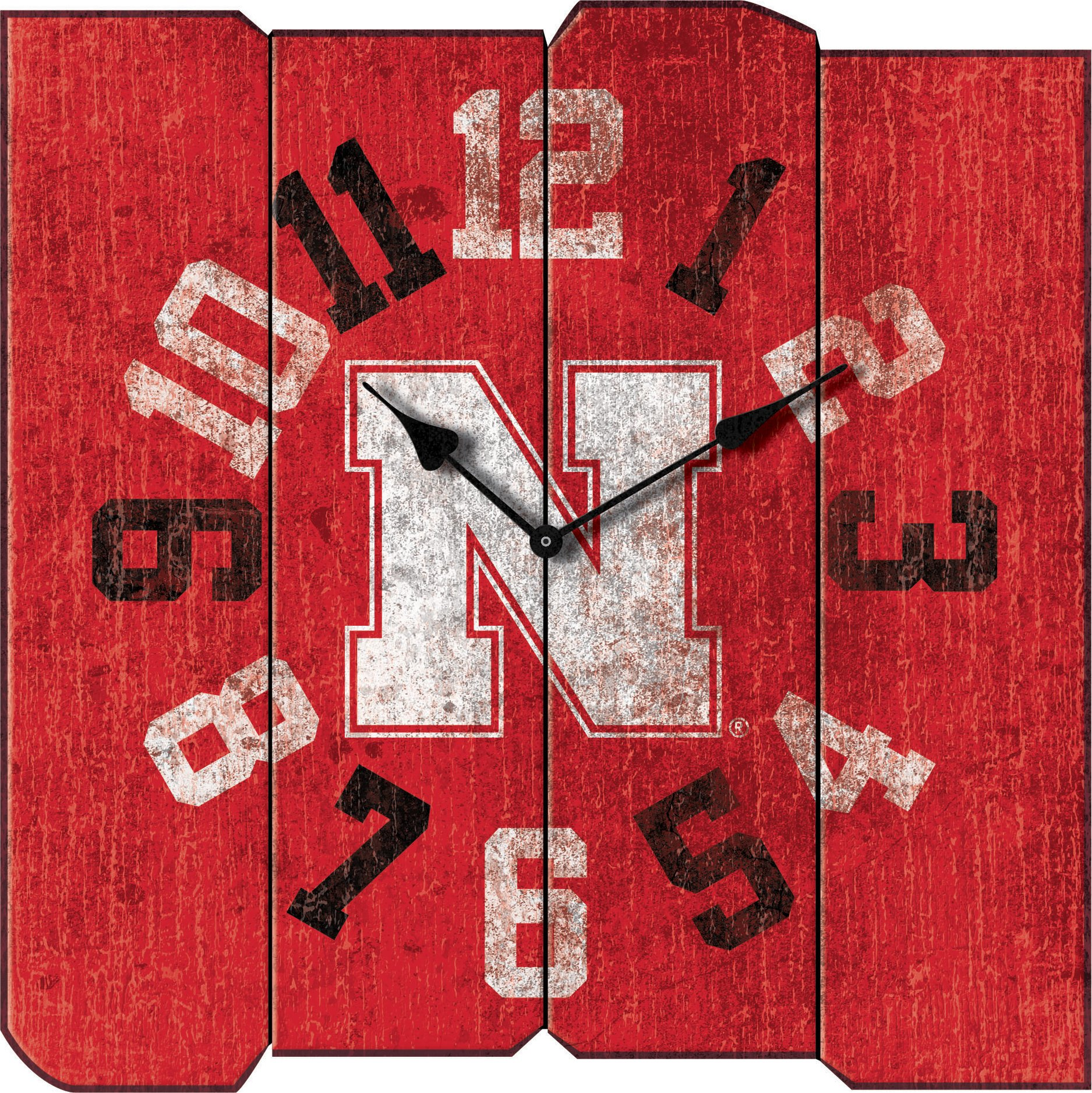 Imperial Officially Licensed NCAA Merchandise: Vintage Square Clock, Nebraska Cornhuskers by Imperial