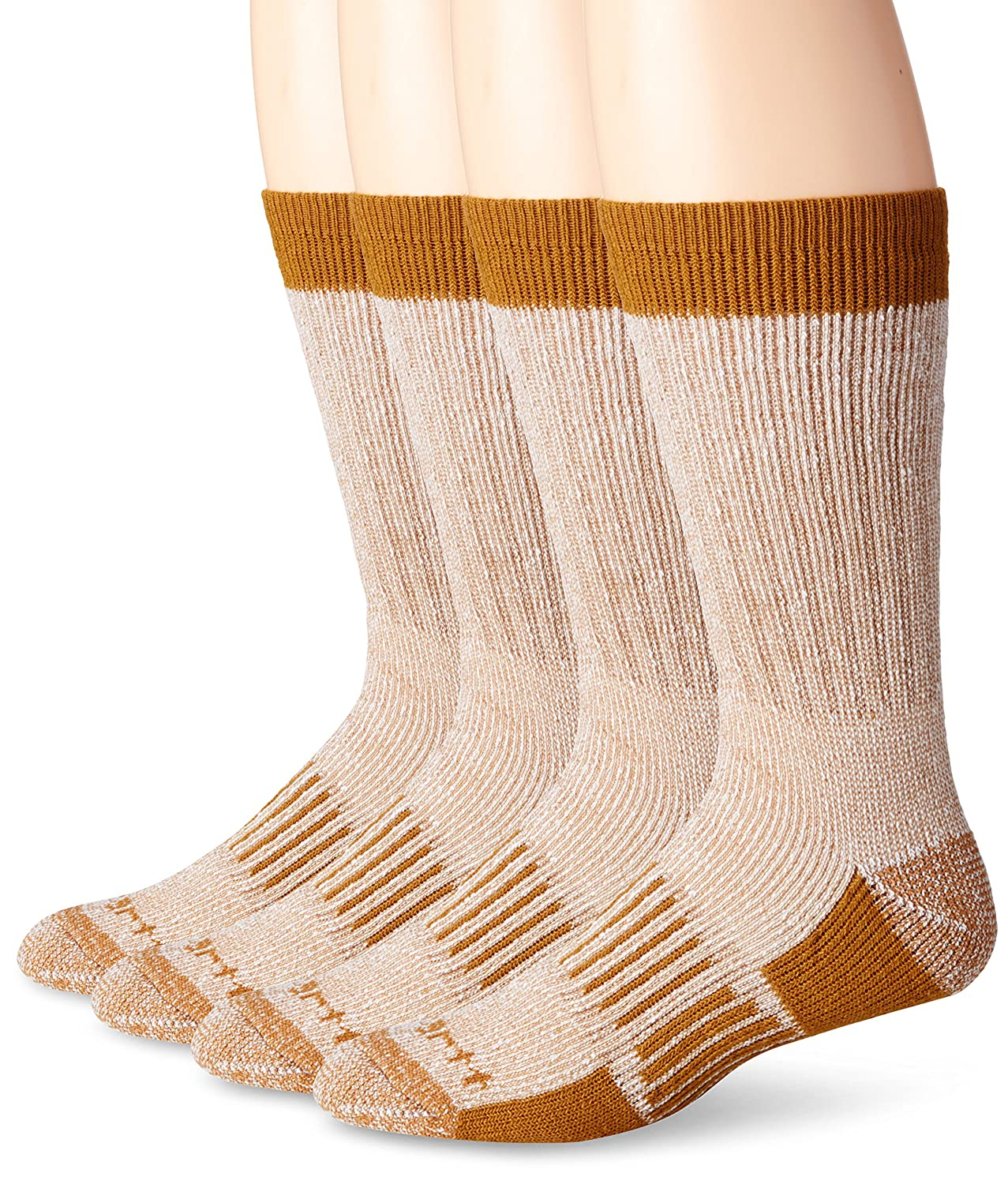 Carhartt Men's All Season Crew 4 Pair Pack Sock A118-4
