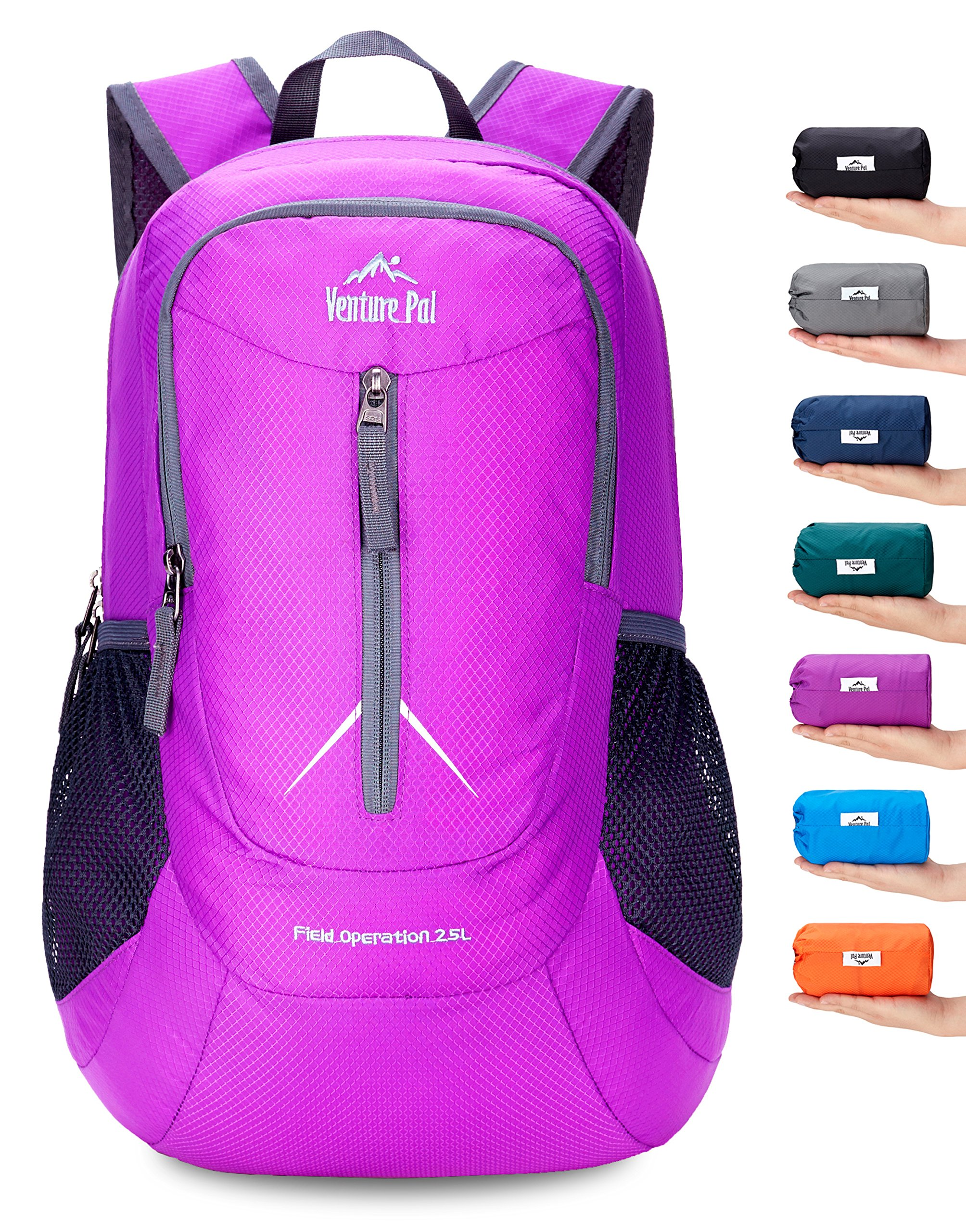 Venture Pal 25L - Durable Packable Lightweight Travel Hiking Backpack Daypack Small Bag for Men Women (Purple) by Venture Pal
