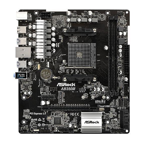 ASRock AB350M Socket AM4 AMD B350 DDR4 SATA3&USB3 0 M 2 MicroATX Motherboard
