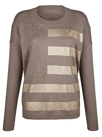 differently the sale of shoes most popular Alba Moda Green Damen Oversized-Pullover: Amazon.de: Bekleidung