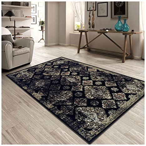 Superior Mayfair Collection Area Rug, 8mm Pile Height With Jute Backing,  Vintage Distressed Medallion