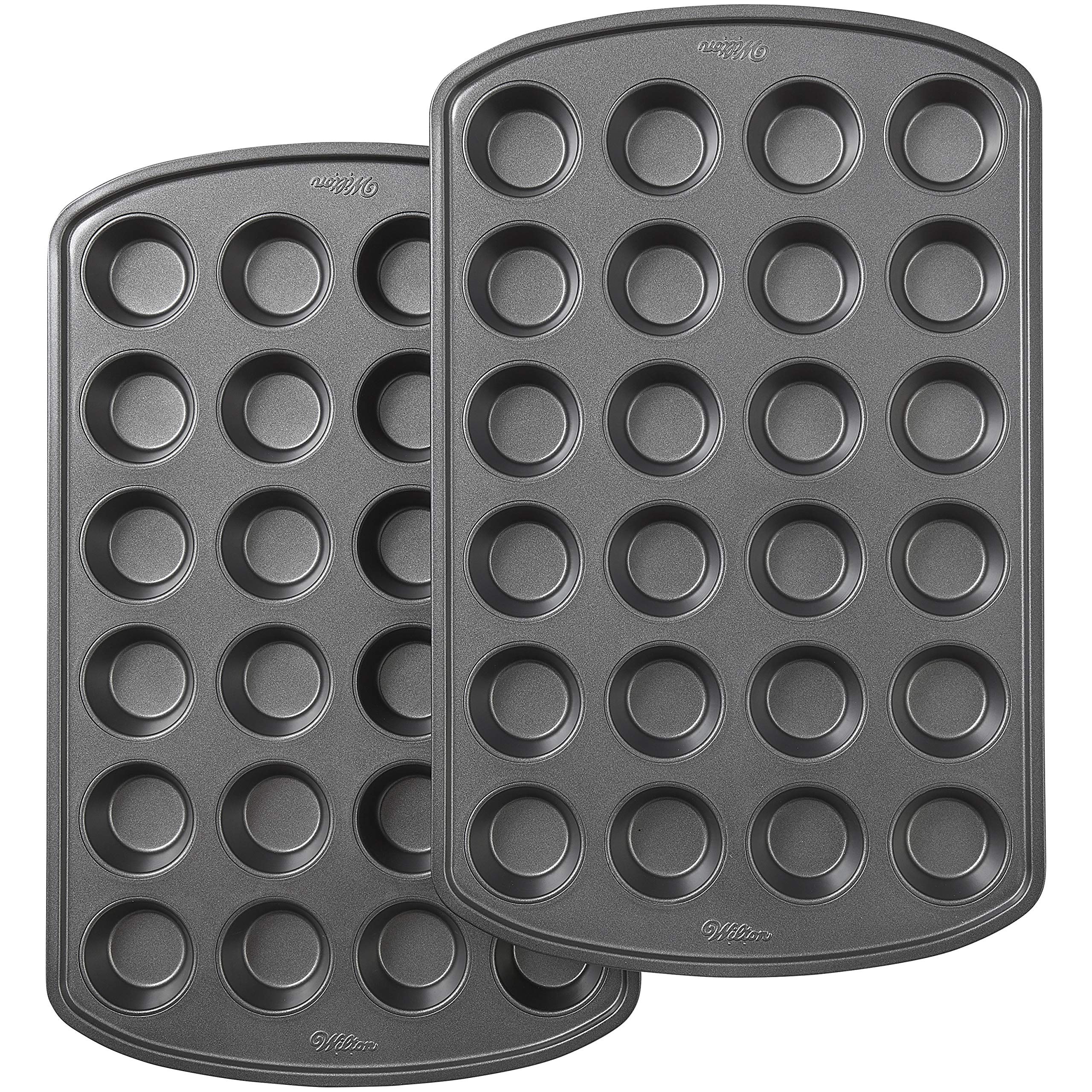 Wilton Perfect Results Premium Non-Stick 24-Cup Mini Muffin and Cupcake Pan, Set of 2 by Wilton