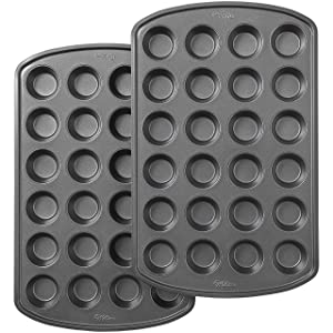 Wilton Perfect Results Premium Non-Stick 24-Cup Mini Muffin and Cupcake Pan, Set of 2