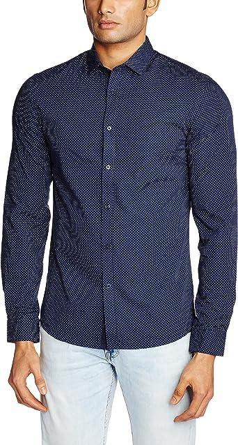 Celio Dapoint - Camisa Hombre, color azul (marine), talla EU ...