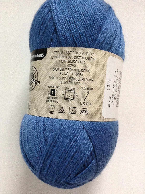 Loops & Threads Woolike Yarn 1 Ball Denim Blue 3 5 ounces