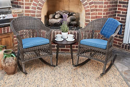 Quality Outdoor Living 65-YZSP03 Teagan Rocking 3 Piece Chat Set