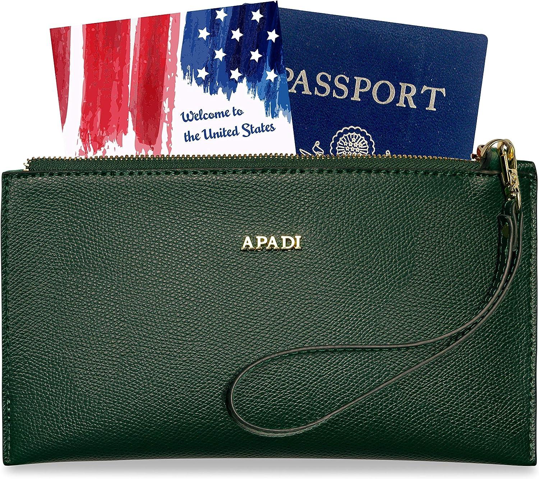 Travel Wallet Convertible Wristlet Money Belt Substitute Secure Over-the-shoulder Purse Zipper Pouch Blue Cateye Travel Clutch