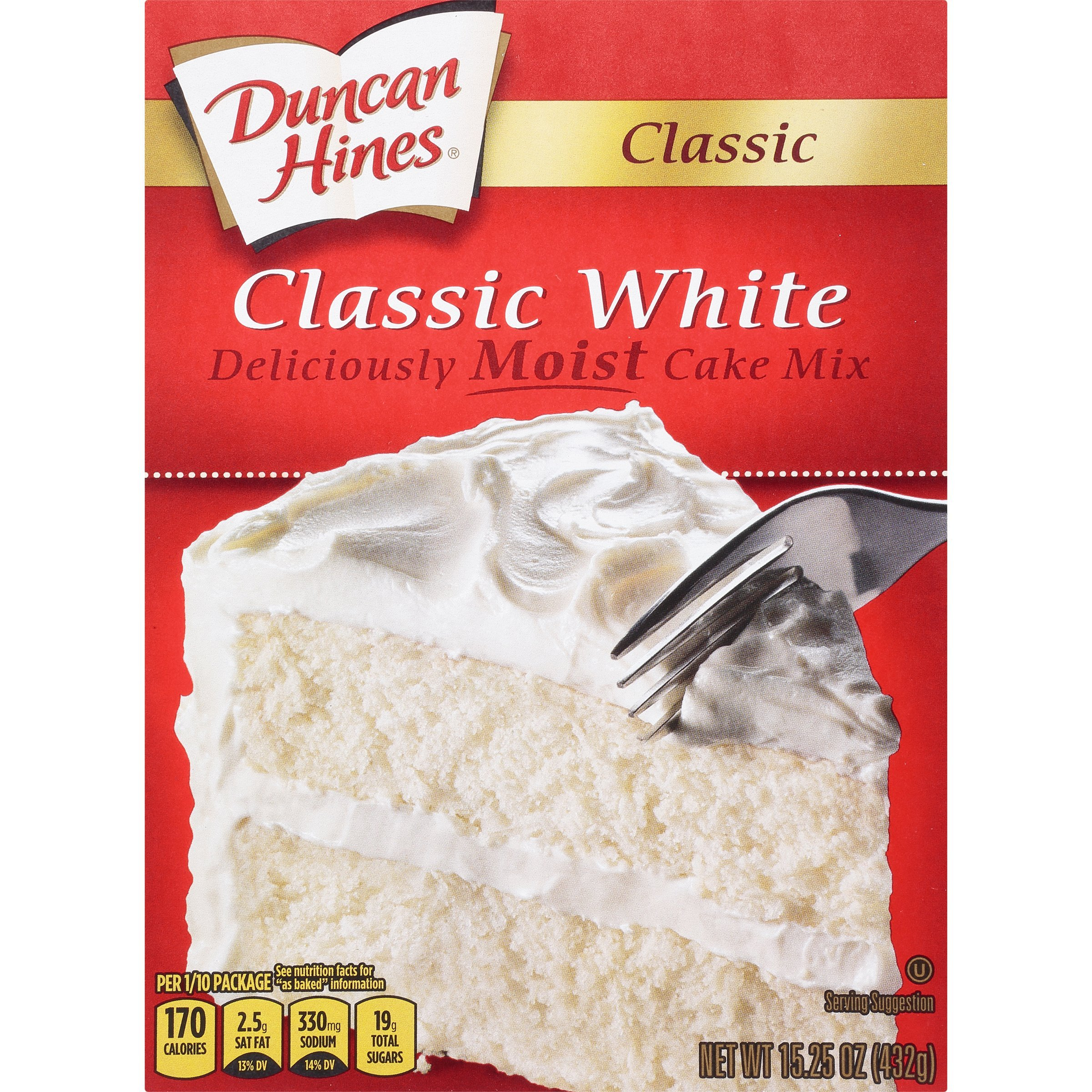 Duncan Hines Classic Cake Mix, White, 15.25 Ounce (Pack of 12)