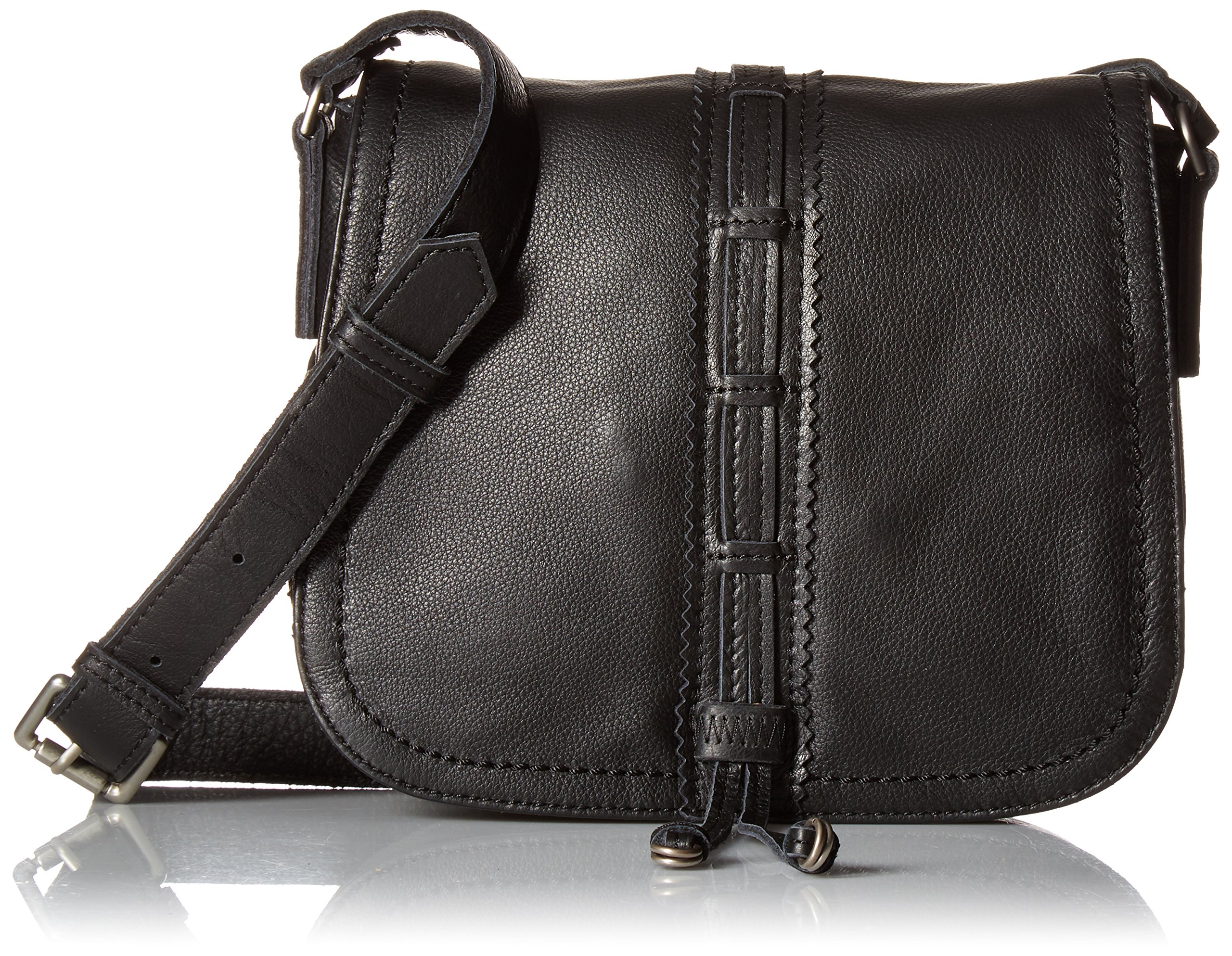 Liebeskind Berlin Women's Huntsville Leather Saddle Bag, Oil Black