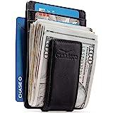 Money Clip - Men's Leather Wallet Slim Front Pocket RFID Blocking with Super Strong Magnetic