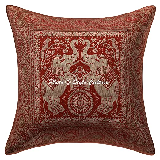 Stylo Culture Elefante Indio Throw Pillow Covers Moho ...