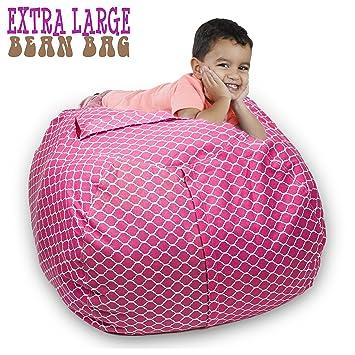 Amazon Com Stuffed Animal Storage Bean Bag Chair 38 Extra Large
