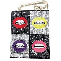 Desconocido Bolso Totes para Mujer de Tela de Algodón, Shopper de hombro 40 x 35 cm
