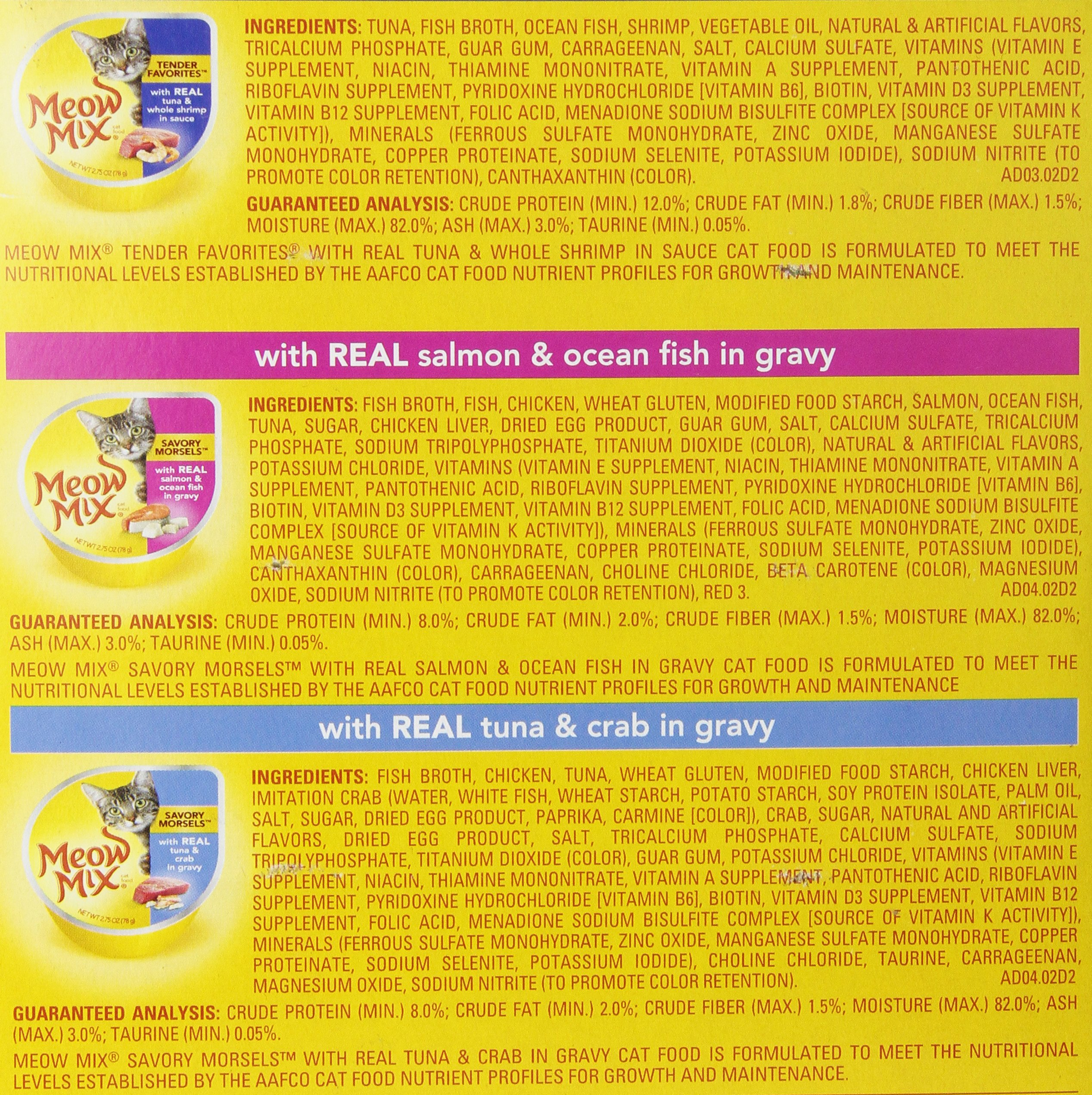 Meow Mix Seafood Selections Variety Pack Wet Cat Food, 2.75-Ounce (pack of 24) by Meow Mix (Image #2)