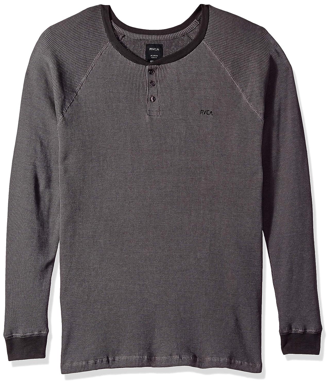 f741764c Amazon.com: RVCA Men's Moorside Long Sleeve Thermal Henley Shirt: Clothing