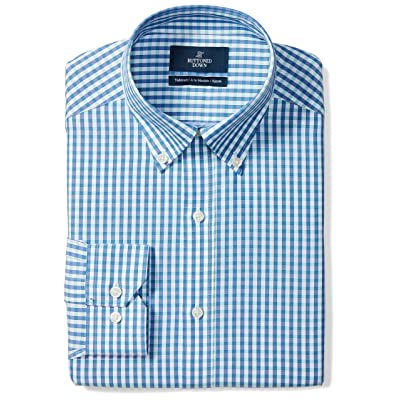 Brand - BUTTONED DOWN Men's Tailored Fit Gingham Dress Shirt, Supima Cotton Non-Iron: Clothing