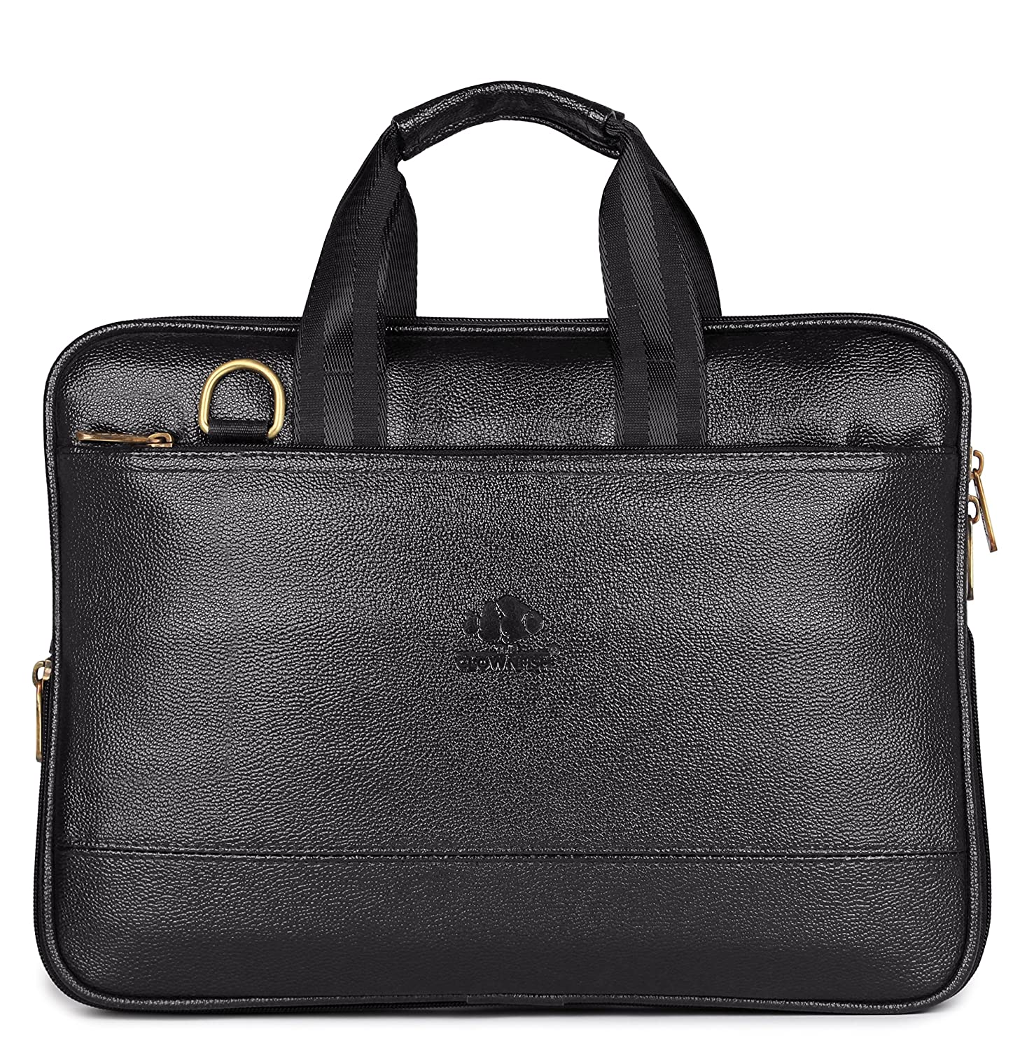 59370323cfd8 The Clownfish 8 Liter Laptop Briefcase (Black)  Amazon.in  Clothing    Accessories