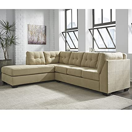 Awe Inspiring Flash Furniture Benchcraft Maier Sectional With Left Side Facing Chaise In Cocoa Microfiber Ibusinesslaw Wood Chair Design Ideas Ibusinesslaworg
