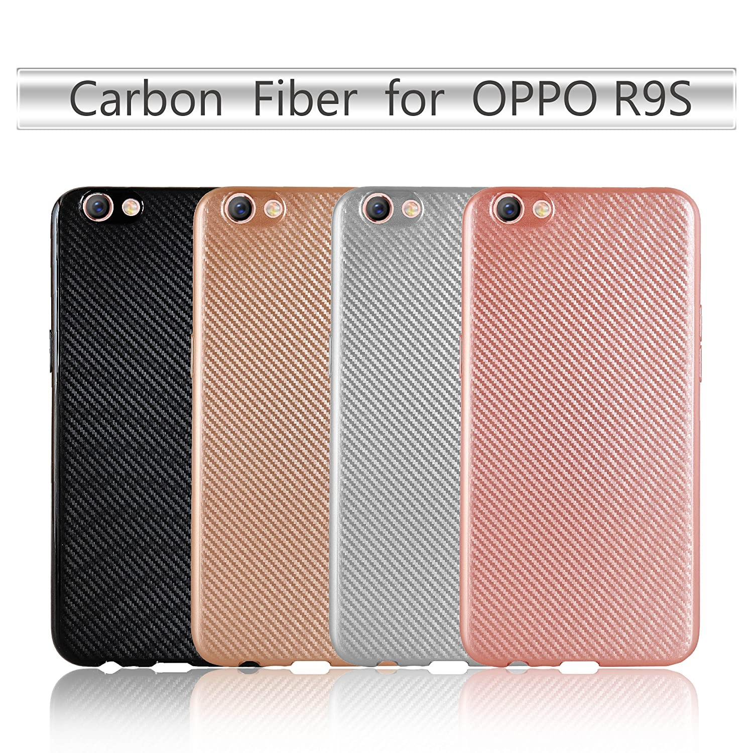 OPPO R9S Funda,DecorLife Ultra [Slim Thin] Scratch Resistant TPU ...