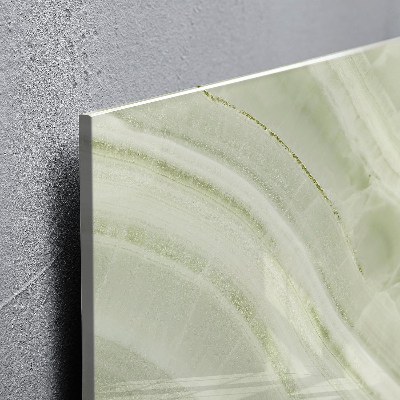 design bois naturel avec /éclairage LED SIGEL GL408 Tableau magn/étique en verre marron clair- Artverum 91 x 46 cm