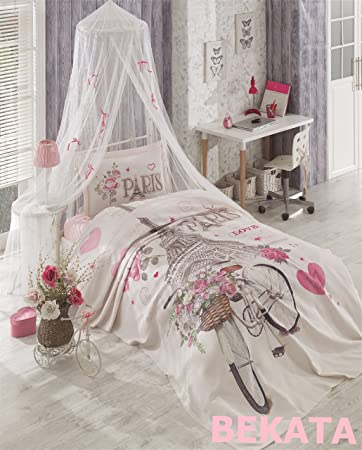 bekata paris love 100 turkish cotton paris bedding set piquebedspread and - Paris Bedding