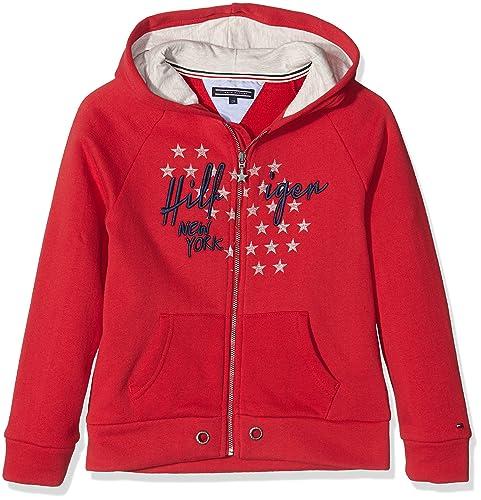 Tommy Hiliger Girls Hilfiger HD Zipthru HWK L/S, Jersey para Mujer