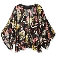 Orchid Row Kimono Printed Chiffon Open Front