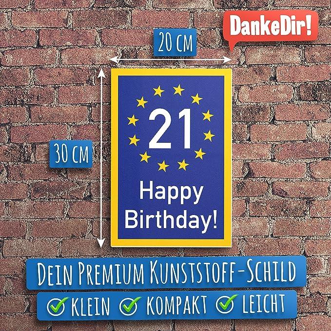 Grazie regalo per 21/° compleanno 21 anni Happy Birthday Cartello in plastica decorazione di compleanno//festa//festa accessorio//biglietto di compleanno. ventiquattranni idea regalo di compleanno