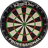 Kings Dart Profi-Dartscheibe | Sisal | 0,7 mm Spider-Feldbegenzung | 44,5 cm