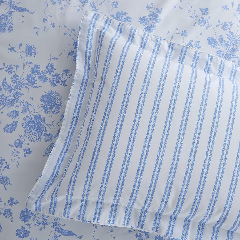 Classic Charlotte Thomas Amelie Oxford Style Pillowcase, Blue - 50 x 75 cms HLS Bedding