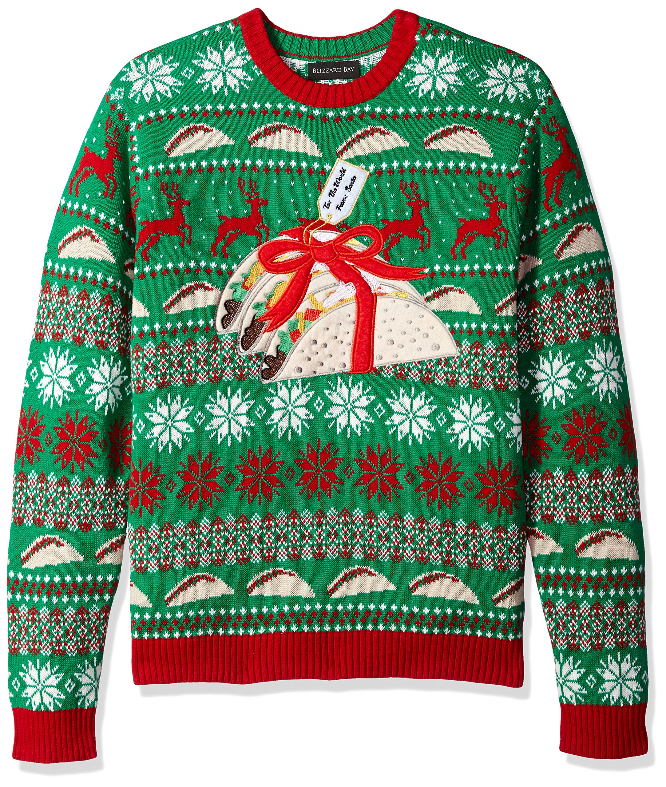Blizzard Bay Men's Ugly Christmas Sweater Food, Green, Medium by Blizzard Bay