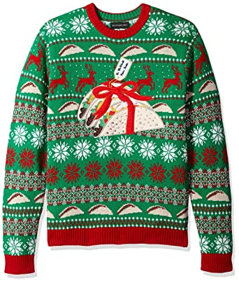 Blizzard Bay Men s The Gift of Tacos Crew Neck Ugly Xmas eb302a769
