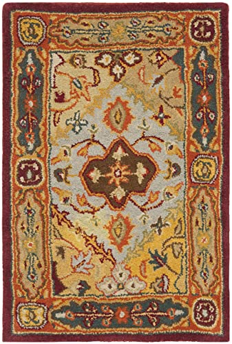Safavieh Heritage Collection HG512A Handcrafted Traditional Oriental Multicolored Wool Area Rug 2 x 3