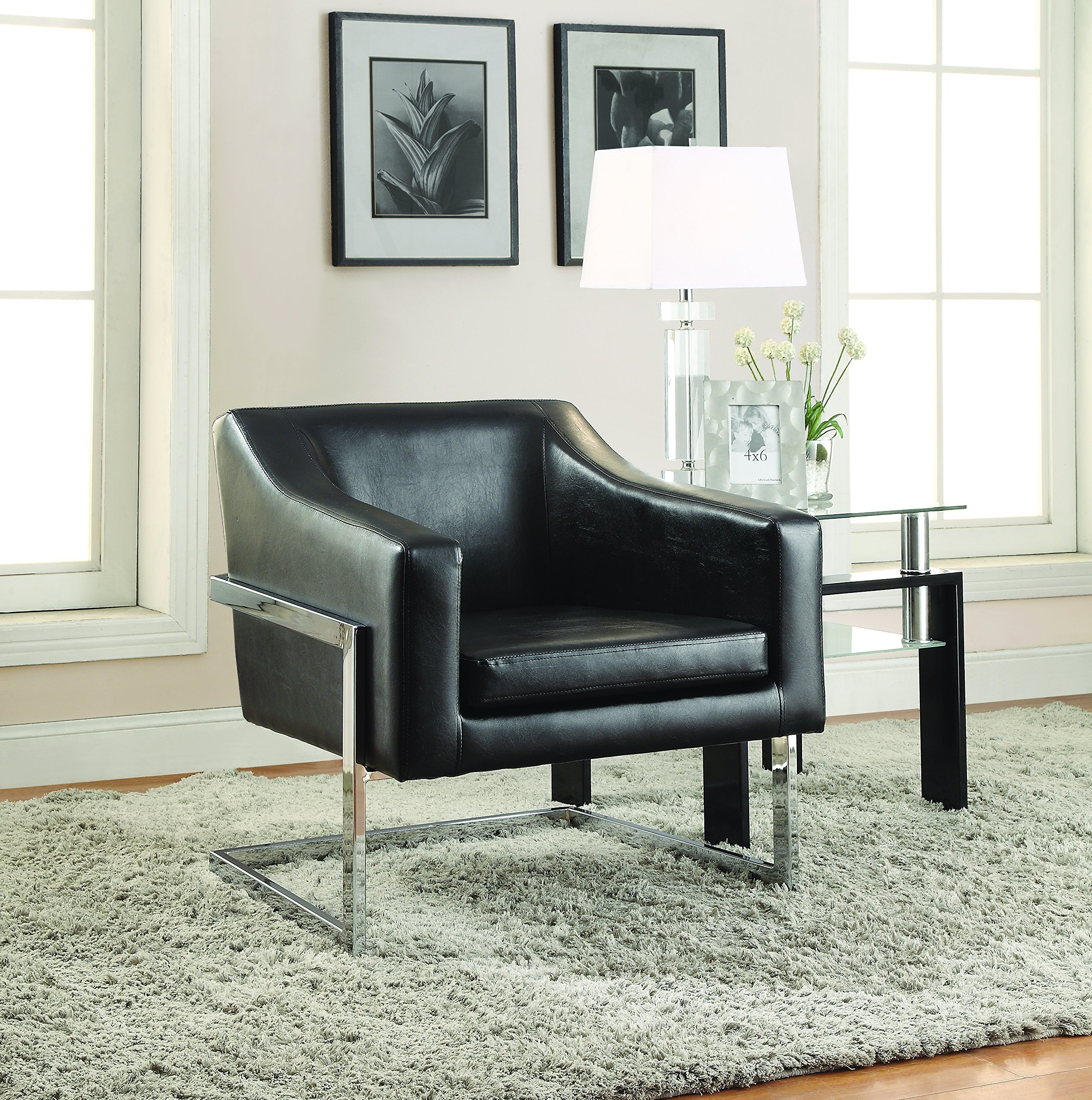 Coaster Home Furnishings 902538 Accent Chair, NULL, Black