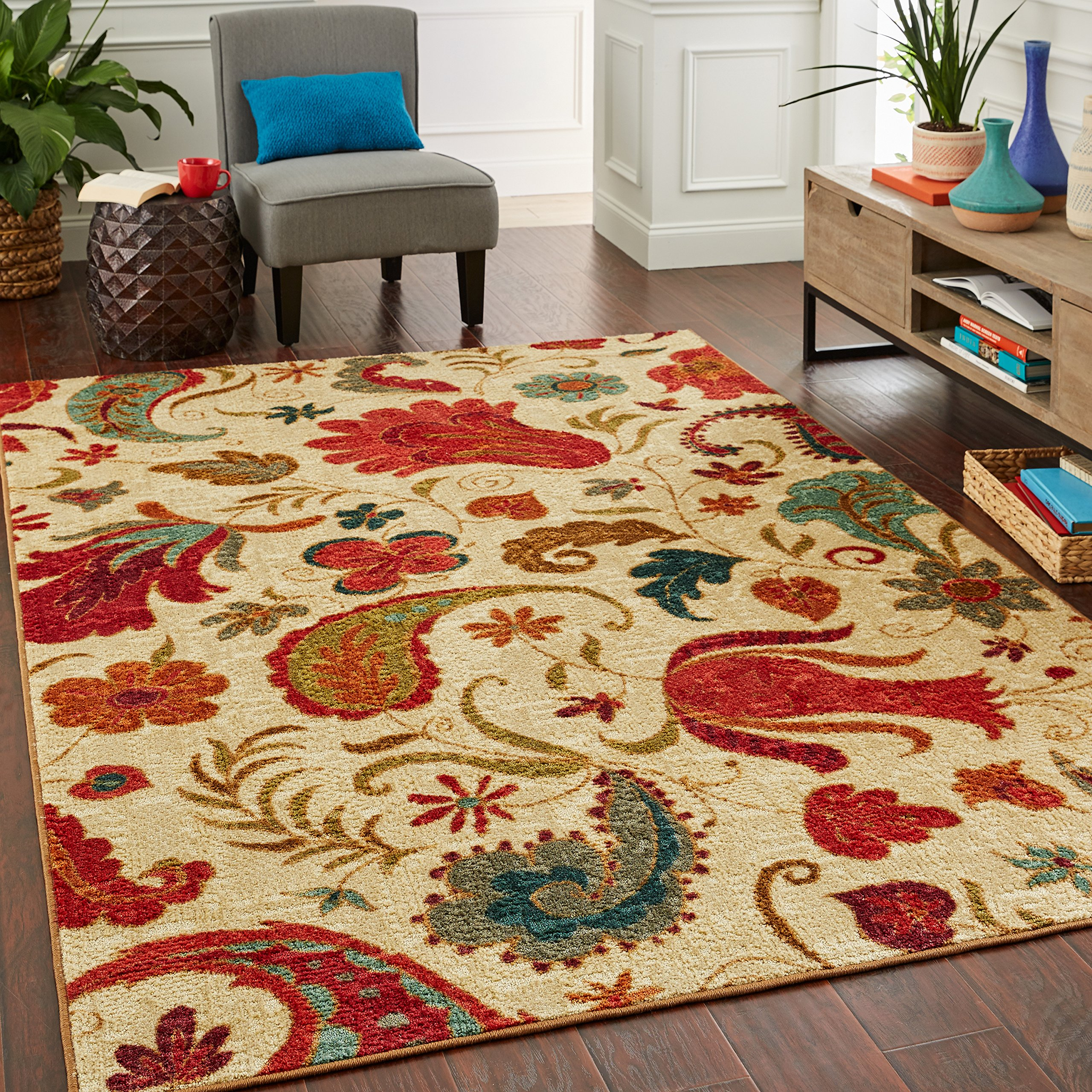 Mohawk Home Strata Contains: 1'8x2'10, 2'x5' Tropical Acres Rug Set, 7'6x10', Beige