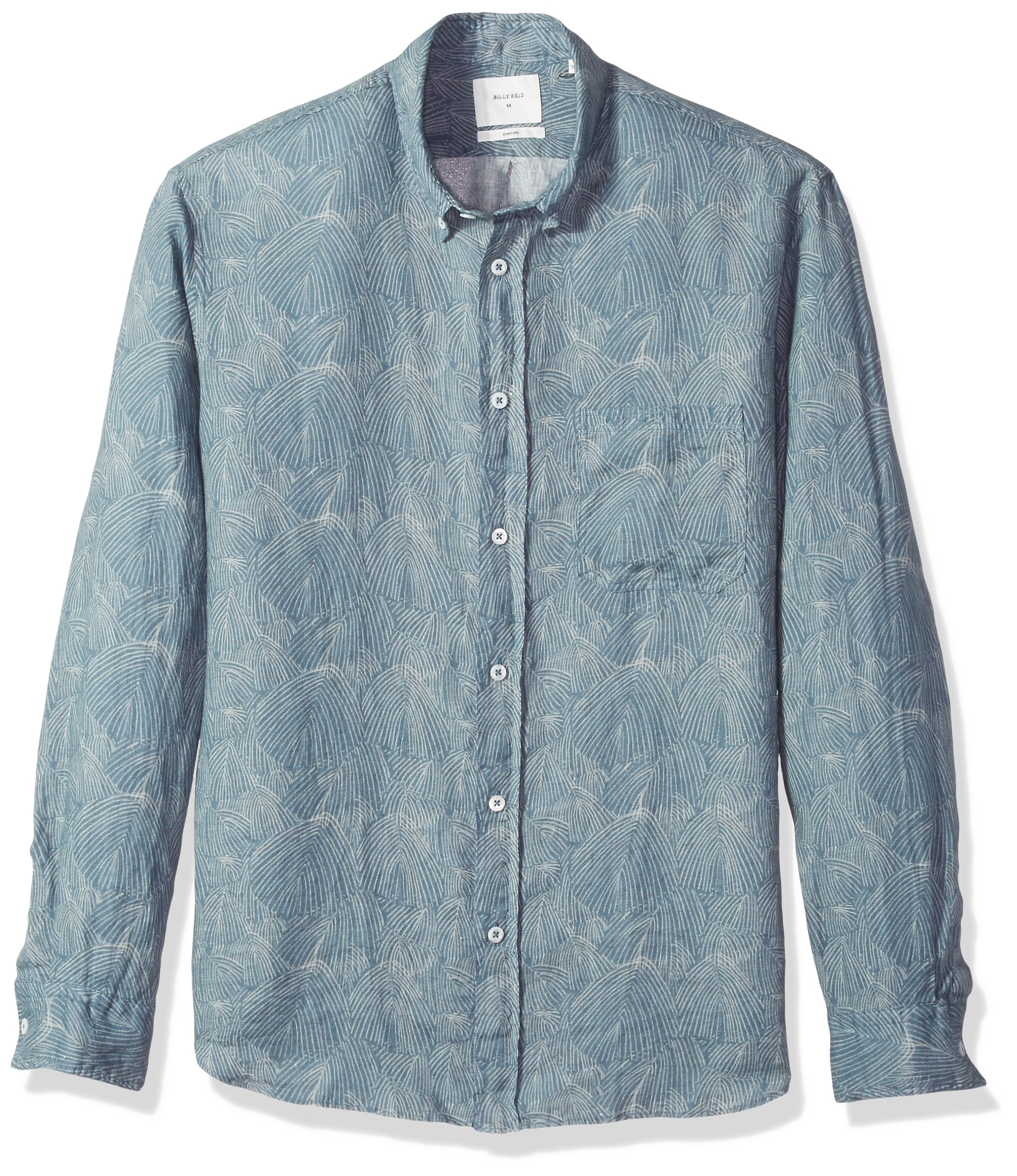Billy Reid Men's Standard Fit Button Down Tuscumbia Shirt, Teal Willow M by Billy Reid (Image #1)