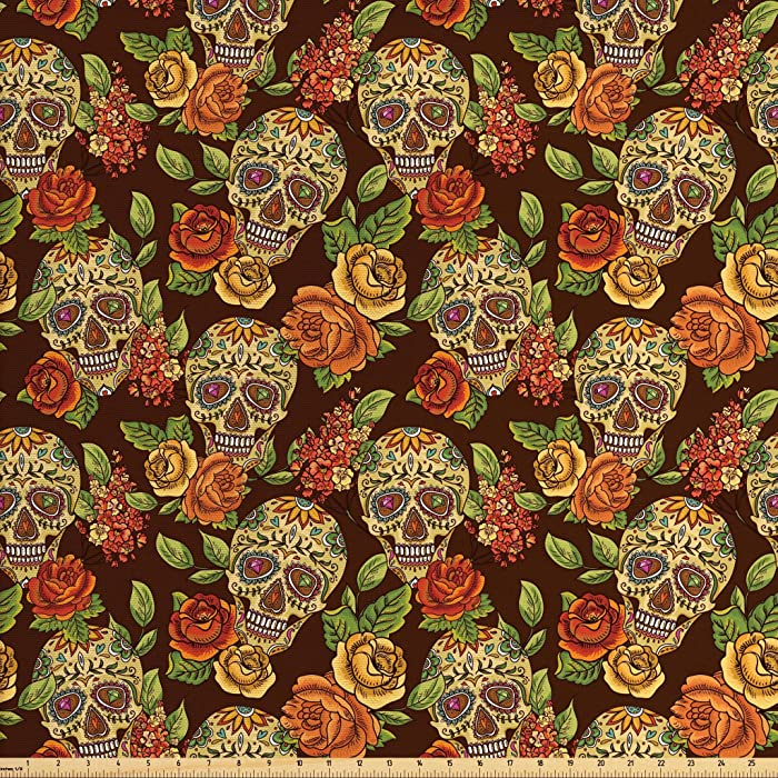 The Best Home Fabric By The Yard Orange Green