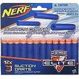 Refil Nerf Elite com 12 Dardos Sucção - Compatível com qualquer lançador N-Strike Elite - A5334 - Hasbro