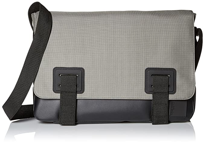 Calvin Klein Men's Ballistic Nylon Messenger, Grey/Black, One Size