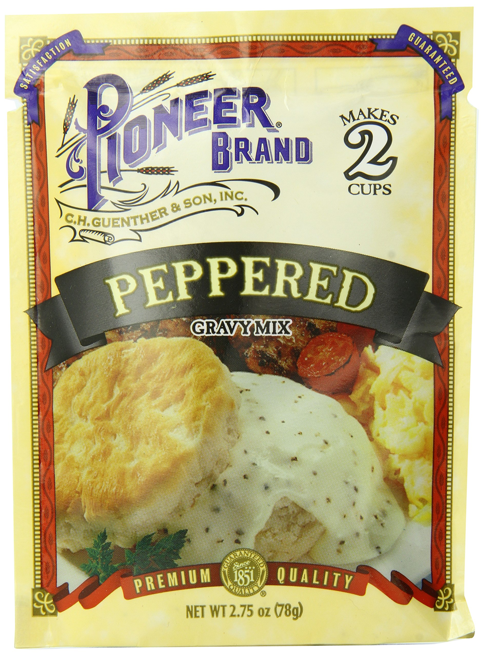 Pioneer Peppered Gravy Mix, 2.75 Ounce (Pack of 12)