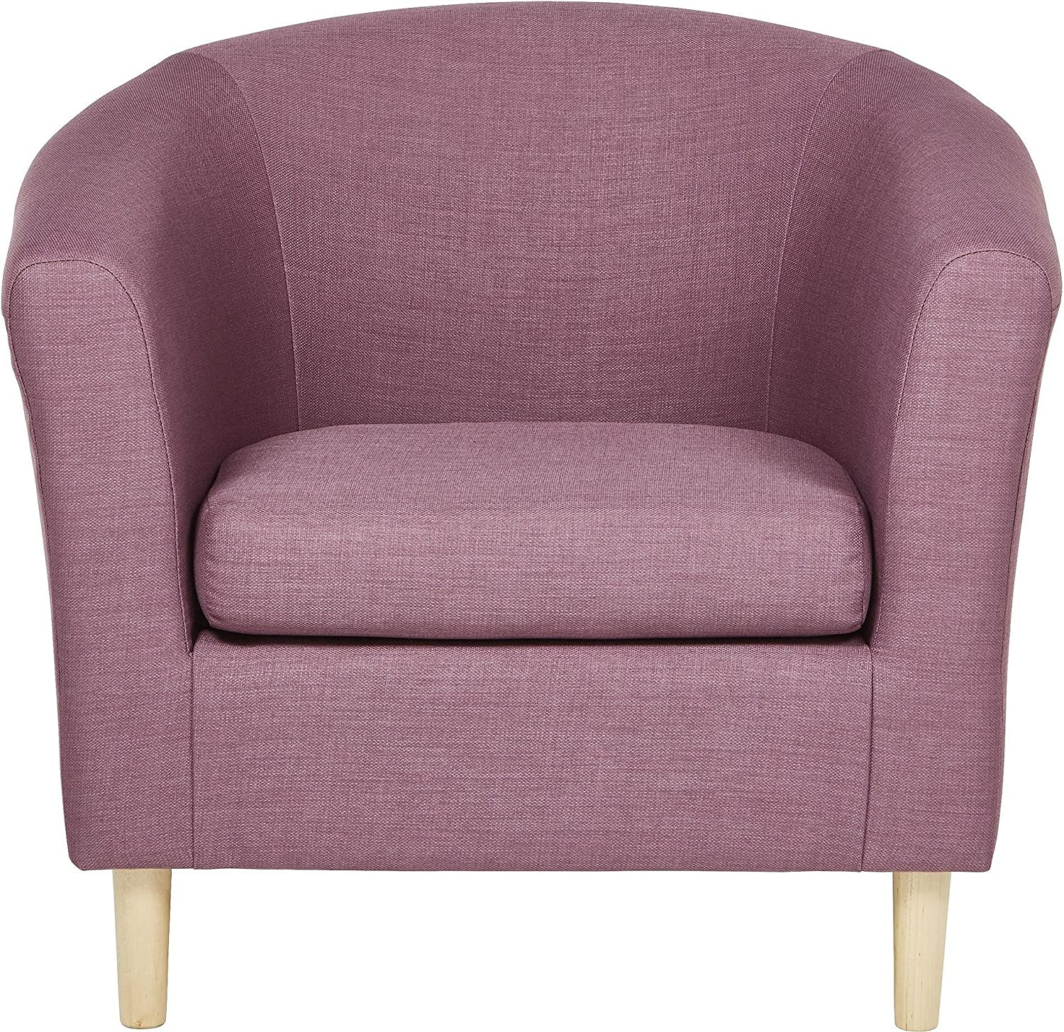 Tesco NEW Classic Woven Fabric Curved Deep Seat Tub Arm Chair - Lilac